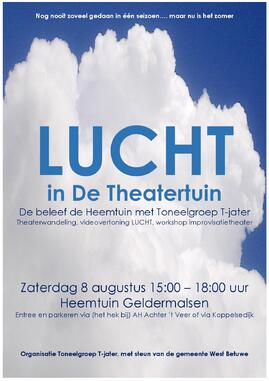 Poster Lucht in De Theatertuin